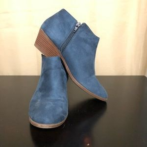 Blue ankle booties